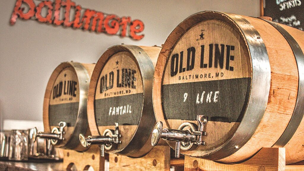 Barreled cocktails with their own tap at Old Line Spirits.