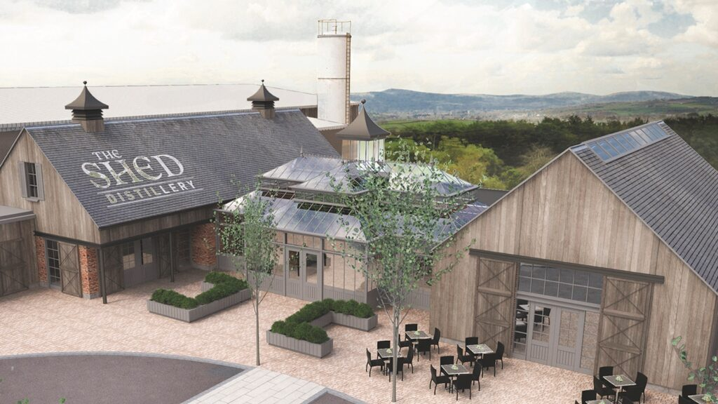 A rendering of The Shed Distillery in Drumshanbo.