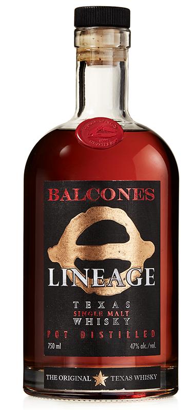 Balcones Lineage Texas Single Malt bottle shot