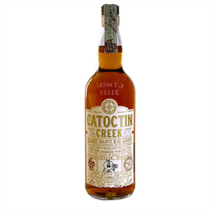 catoctin creek barrel select peach brandy finished rye bottle