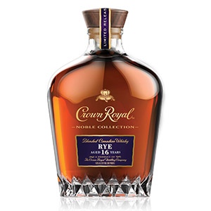 Crown Royal Noble Collection 16 year old Rye bottle.
