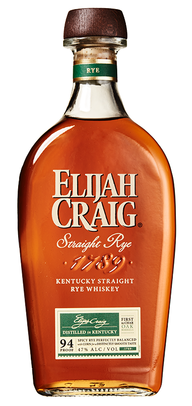 Elijah Craig Straight Rye bottle shot