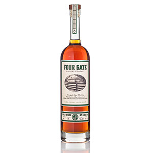 four gate split stave rye bottle