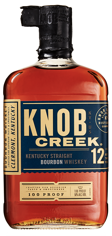Knob Creek 12 year old bottle shot