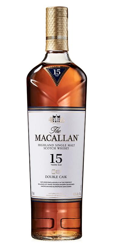 Macallan 15 year old double cask bottle shot