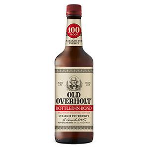 Old Overholt Bottled in Bond bottle.