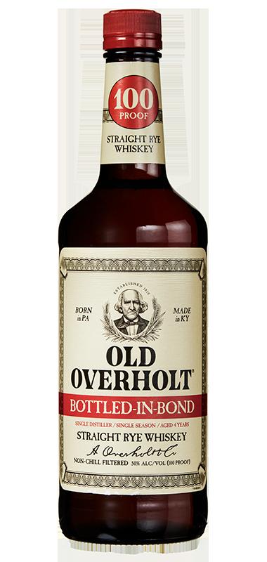 Old Overholt Bottled in bond rye bottle shot