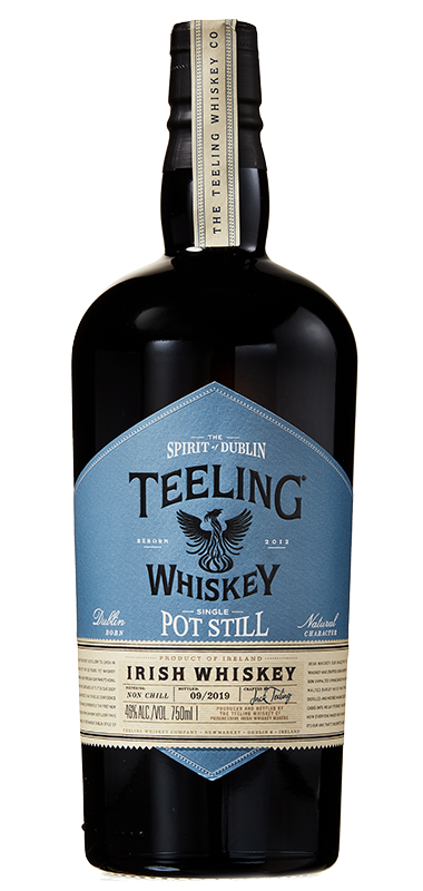 Teeling Single Pot Still Irish Whiskey bottle shot