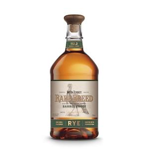 Wild Turkey Rare Breed Barrel Proof rye bottle.