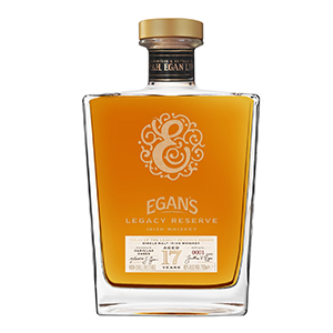 Egan's 17 year old Legacy Reserve III Cadillac Cask-Finished bottle.