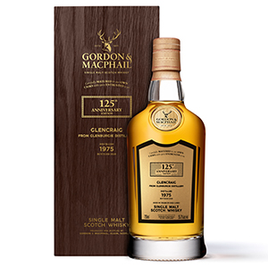 Gordon & MacPhail 125th Anniversary 1975 (Glencraig, Distilled at Glenburgie; Cask No. 9686) bottle.