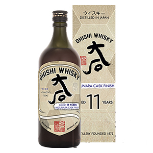 Ohishi 11 year old Mizunara Cask-Finished bottle.