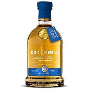Kilchoman 100% Islay (2020 Release) bottle.