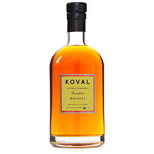 Koval Single Barrel (No. ZT3W42) bottle.