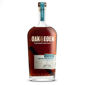 Oak & Eden Round Prairie Jamestown Revival Riff bottle.