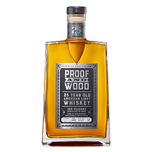 proof and wood 100 seasons light whiskey bottle
