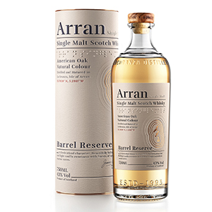 arran barrel reserve scotch with canister