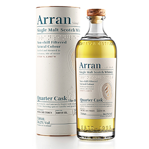 arran quarter cask the bothy scotch with canister