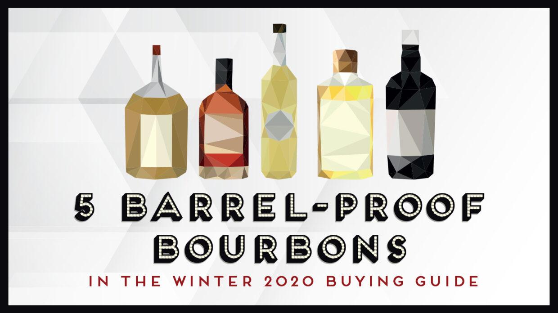 illustration of five whiskey bottles