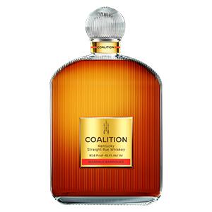 coalition margaux wine cask finished rye bottle