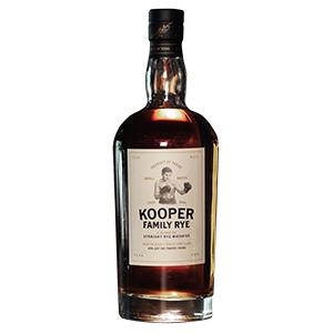 Kooper Family Rye bottle.