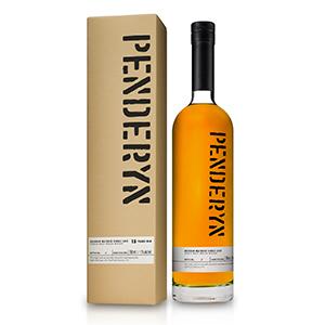 penderyn 15 year old single bourbon cask number B105-2005 welsh single malt bottle with carton