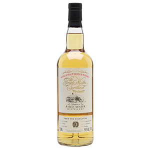 Single Malts of Scotland 10 year old Aird Mhor Single Cask (Distilled in 2009; Cask No. 707921) bottle.