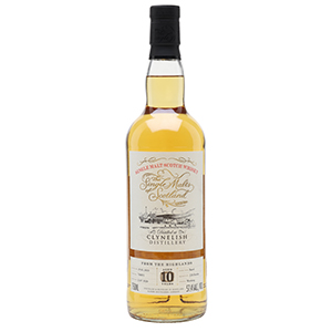 Single Malts of Scotland 10 year old Clynelish Single Cask (Distilled in 2010; Cask No. 700051) bottle.