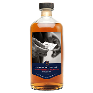 the family jones inauguration rye bottle