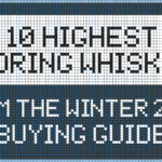 "illustration that reads ""10 highest scoring whiskies from the winter 2020 buying guide"""