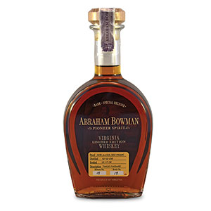 Abraham Bowman 13 year old Twice Finished bottle.