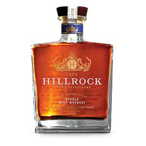Hillrock American single malt bottle.