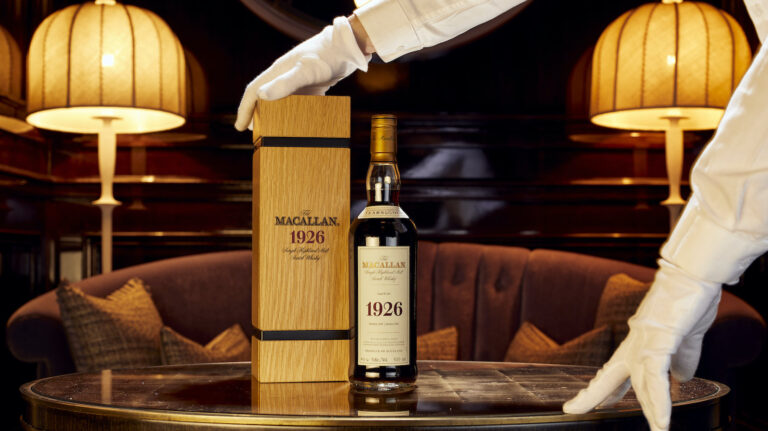 a bottle of 1926 macallan fine & rare 60 year old