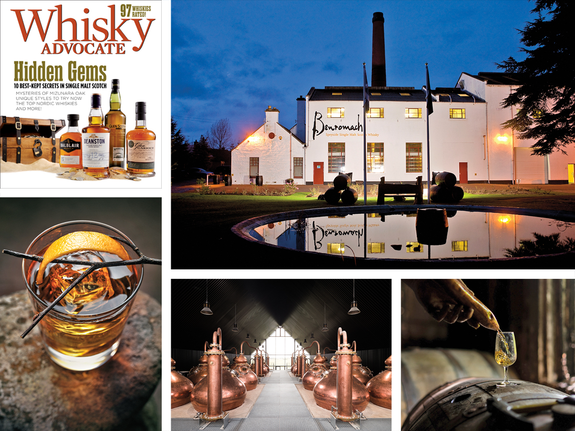 collage of images from the Spring 2021 issue of Whisky Advocate