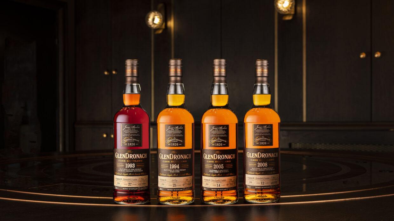 4 bottles of glendronach single cask scotch batch 18