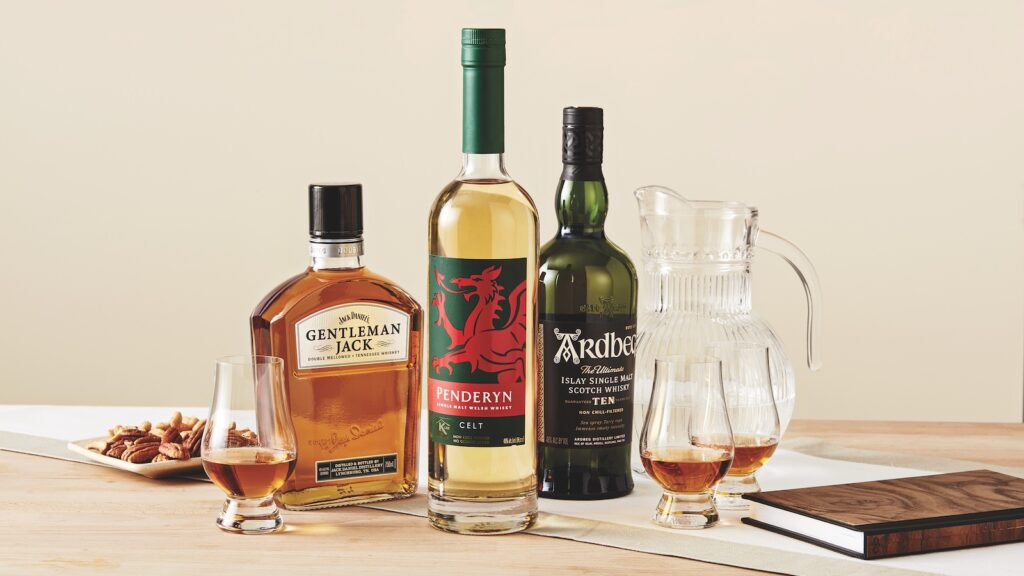 three kosher whiskies