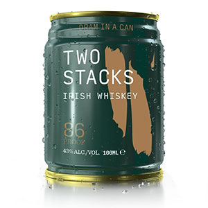 two stacks dram in a can blended irish whiskey