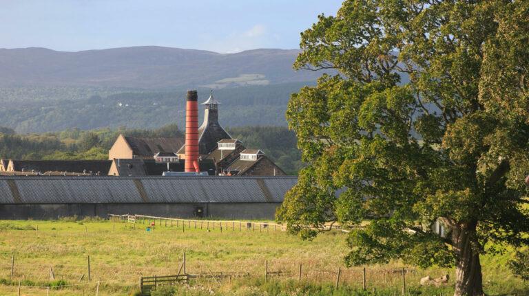 The Balblair whisky distillery in Edderton, Scotland.