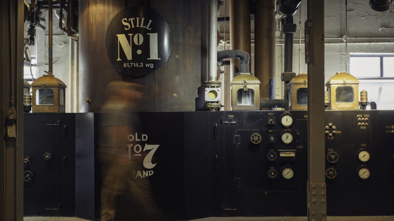 column still no. 1 at the jack daniel distillery