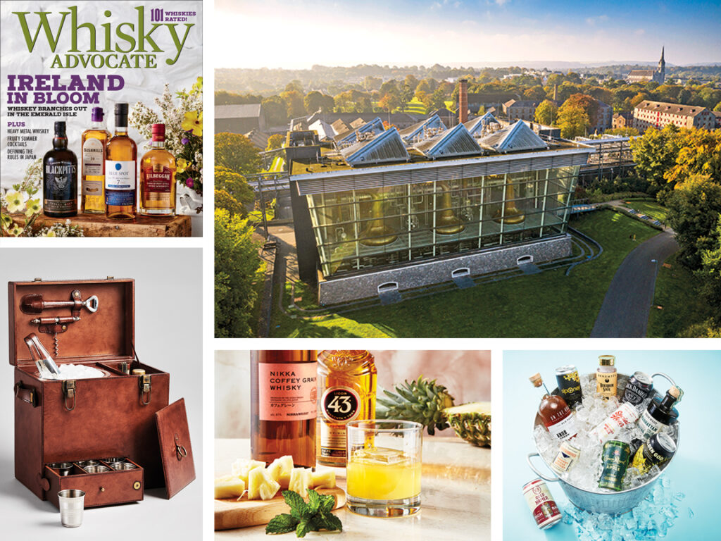 collage of images from the Summer 2021 issue of Whisky Advocate