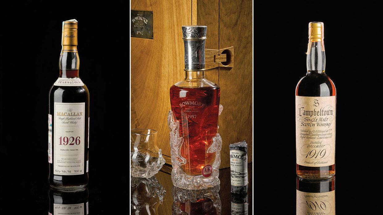 3 rare whiskies