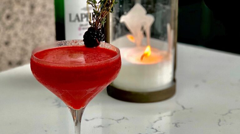 Red tinted cocktail