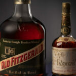 Two vintage bottles of whiskey
