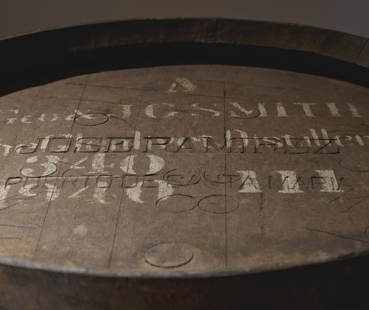 Top of an old cask