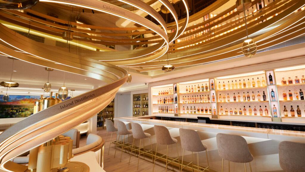 Futuristic looking bar space