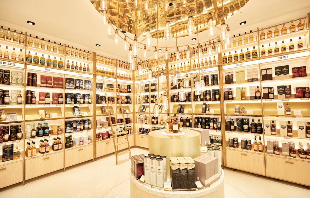 whiskey retail space