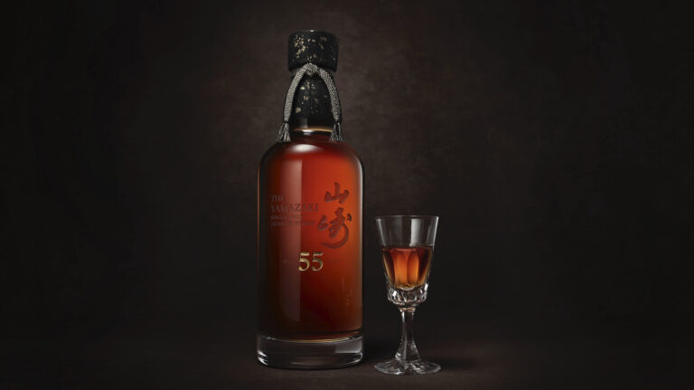 A bottle and glass of Japanese whisky