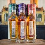 Three whisky bottles